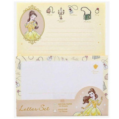 Japan Disney Letter Envelope Set - Beauty and the Beast Belle My Closet