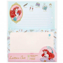 Japan Disney Letter Envelope Set - Little Mermaid Ariel My Closet