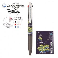 Japan Disney Jetstream 3 Color Multi Pen - Little Green Men Alien Navy