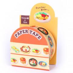 Sanrio Gudetama Japanese Washi Paper Masking Tape - Egg Dishes