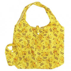 Japan Pokemon Eco Shopping Bag - Pikachu All Around Light Yellow
