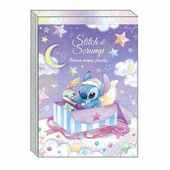 Japan Disney A6 Notepad - Stitch Star Night