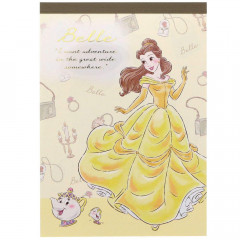 Japan Disney A6 Notepad - Beauty and the Beast Belle My Closet