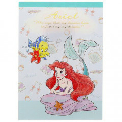 Japan Disney A6 Memo Set - Little Mermaid Ariel My Closet