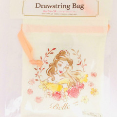 Japan Disney Drawstring Bag - Beauty and the Beast Belle