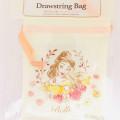 Japan Disney Drawstring Bag - Beauty and the Beast Belle - 1