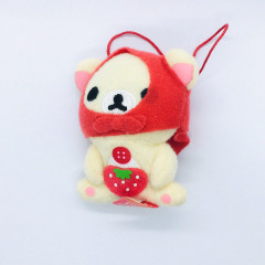 San-X Rilakkuma Happy Rainbow 7th Anniversary Plush - Strawberry Korilakkuma