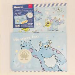 Japan Disney Letter Envelope Set - Mike & Sulley Blue
