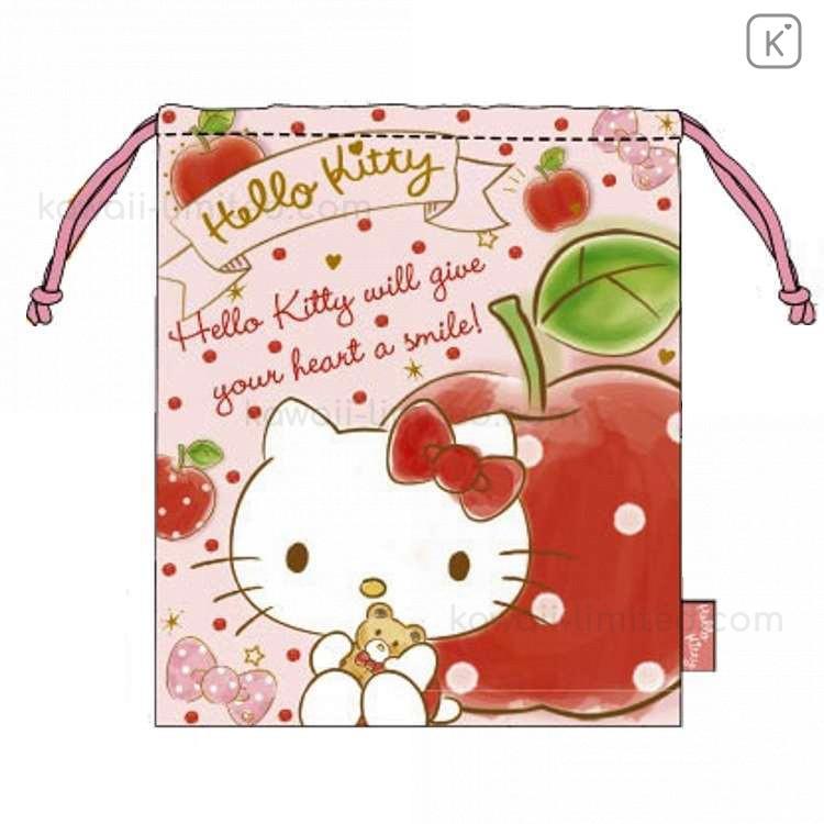 Hello Kitty Drawstring Bag Japan Sanrio kawaii Free Shipping From Japan