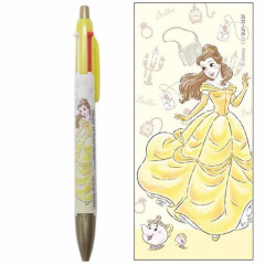 Japan Disney 2 Color Multi Pen & Mechanical Pencil - Beauty and the Beast Belle My Closet
