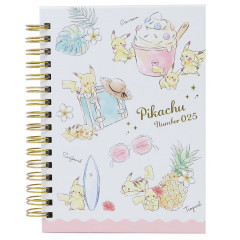 Pokemon A6 Notebook - Pikachu number025 Summer Time