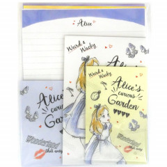 Japan Disney Letter Envelope Set - Alice in Wonderland Curious Garden