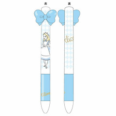 Japan Disney Two Color Mimi Pen - Alice in Wonderland & Ribbon