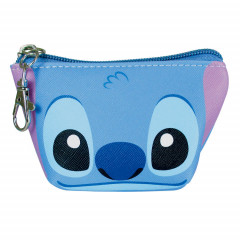 Japan Disney Coin Purse Mini Pouch - Stitch Faces