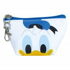 Japan Disney Coin Purse Mini Pouch - Donald Duck Faces