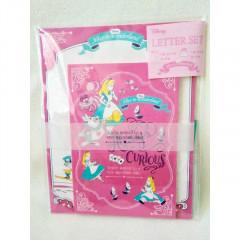 Japan Disney Letter Envelope Set - Alice in Wonderland Curious Garden Pink