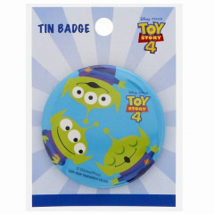Japan Disney Tin Badge - Toy Story 4 Little Green Men Alien