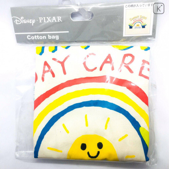 Japan Disney Cotton Tote Bag - Toy Story Little Green Men Alien - 2