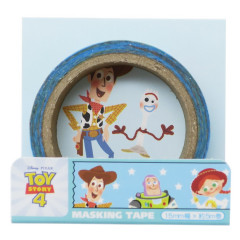 Disney Japanese Washi Paper Masking Tape - Toy Story 4 Woody & Friends Blue