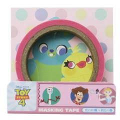 Disney Japanese Washi Paper Masking Tape - Toy Story 4 Woody & New Friends Pink