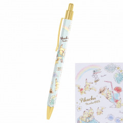 Japan Pokemon Ball Pen - Pikachu number025 Travel Time Light Blue