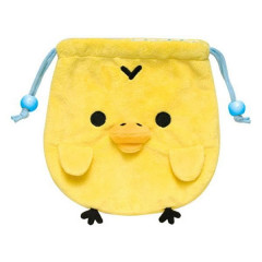 Japan Rilakkuma Drawstring Bag - Kiiroitori Plush