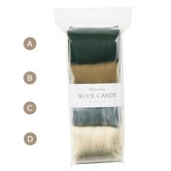 Japan Hamanaka Wool Candy 4-Color Set - Dark Greyish