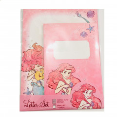 Japan Disney Letter Envelope Set - Little Mermaid Ariel & Flounder