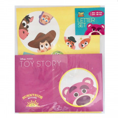 Japan Disney Letter Envelope Set - Toy Story Woody & Lotso Bear