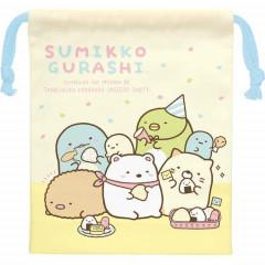 Japan Sumikko Gurashi Drawstring Bag - Light Yellow