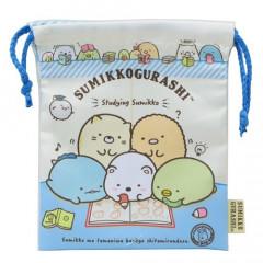 Japan Sumikko Gurashi Drawstring Bag - Studying Time