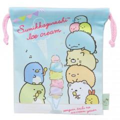 Japan Sumikko Gurashi Drawstring Bag - Ice Cream