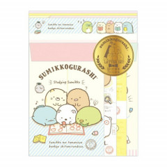 Japan Sumikko Gurashi Letter Envelope Set - Studying Time