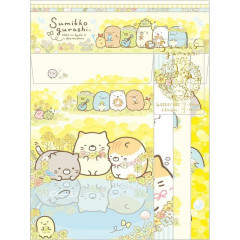 Japan Sumikko Gurashi Letter Envelope Set - Yellow Flower
