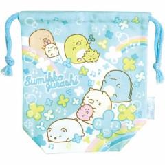 Japan Sumikko Gurashi Drawstring Bag - Blue Heaven