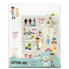 Japan Disney Letter Envelope Set - Toy Story 4 Woody Grey