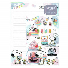 Japan Snoopy Letter Envelope Set - Dessert