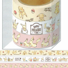 Pocket Monster Pokemon Japanese Washi Paper Masking Tape - Pikachu Set