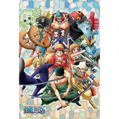 Japan One Piece Art Crystal Jigsaw Puzzle 126pcs - Full Team