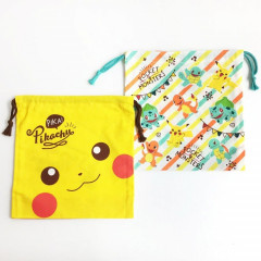 Japan Pokemon Drawstring Bag - Pikachu & Pocket Monsters