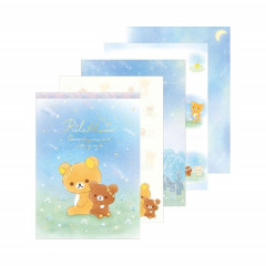 Japan Rilakkuma A6 Memo Set - Chairoikoguma Star Night