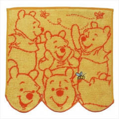 Japan Disney Jacquard Handkerchief Wash Towel - Pooh & Bee