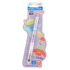 Japan Disney × Uni Kuru Toga Auto Lead Rotation 0.5mm Mechanical Pencil - Toy Story Aliens