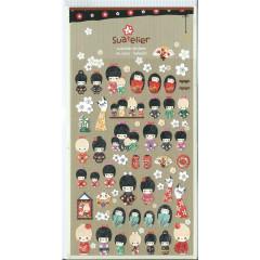 Korea Suatelier Sticker - Japanese Doll