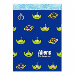 Japan Disney B8 Mini Notepad - Toy Story Little Green Men Alien