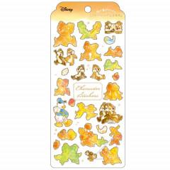 Japan Disney Seal Sticker - Chip & Dale Watercolor