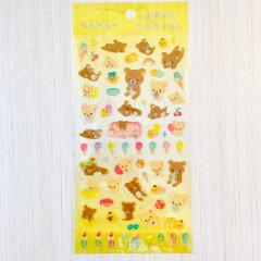 Japan San-X Rilakkuma Bear Clear Seal Sticker - Summer Time