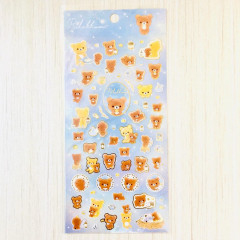 Japan San-X Rilakkuma Bear Seal Sticker - Chairoikoguma Star Night