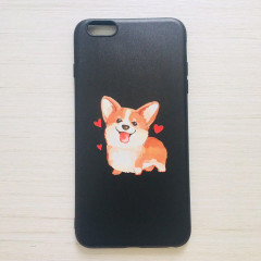Cute Happy Corgi Black Phone Case