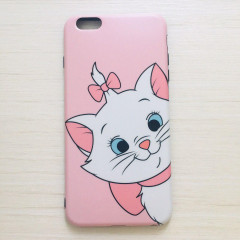 Pink Marie Cat Face Phone Case